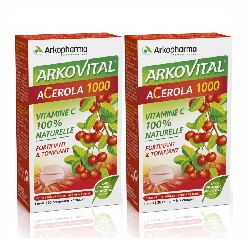 multi vitamines arkovital acerola 1000 vitamine c naturelle lot de 2. Black Bedroom Furniture Sets. Home Design Ideas