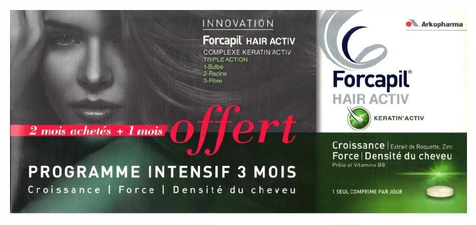 Diététique Cheveux : Forcapil Hair Activ Programme 3 Mois