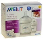 Avent Biberon Natural 125ml Transparent Lot de 2