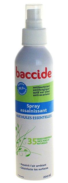 insecticides antiparasitaires baccide spray assainissant aux huiles essentielles 200ml. Black Bedroom Furniture Sets. Home Design Ideas