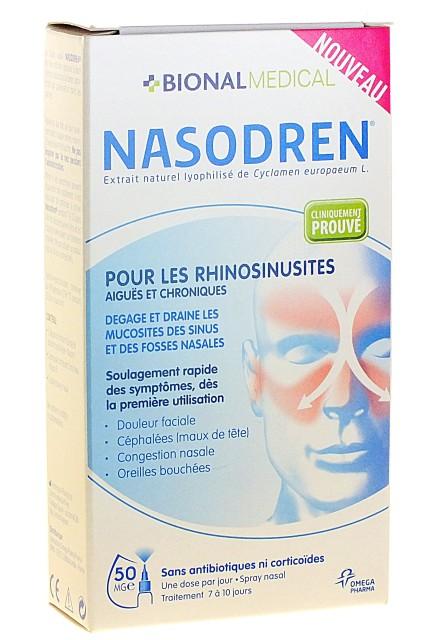 Nettoyants Rhume : Nasodren Rhino-Sinusites Spray Nasal