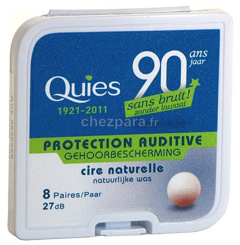 Quies Boules Cire Naturelle Protections Auditives