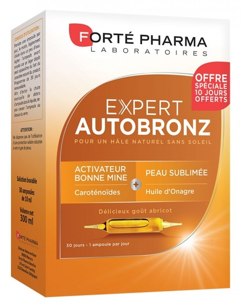 soleil forte pharma expert autobronz ampoules format 1 mois. Black Bedroom Furniture Sets. Home Design Ideas