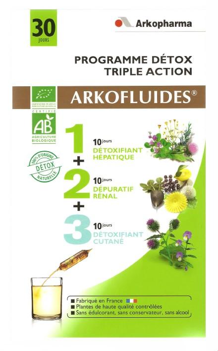plantes en ampoules arkofluides programme detox triple action 30 jours bio. Black Bedroom Furniture Sets. Home Design Ideas