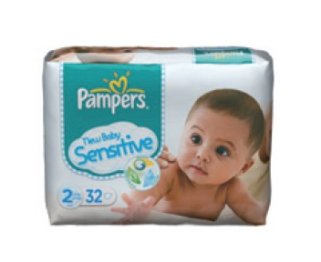 Couches alezes pampers new baby sensitive taille 2 3 6kg - Couches pampers new baby taille 3 ...