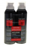 Vichy Homme Mousse à Raser Anti-Irritations 200ml Lot de 2
