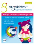 Orgakiddy Protège Cuvette de Toilettes Jetable Format Extra Large X10