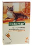 Advantage 40 Chat - de 4kg 6 Pipettes