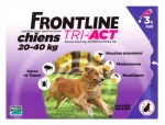 Frontline Tri-Act Chiens L 20-40kg Spot-on 3 Pipettes