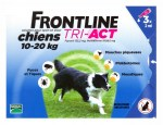 Frontline Tri-Act Chiens M 10-20kg Spot-on 3 Pipettes
